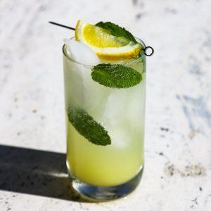 A glass of white grapefruit paloma